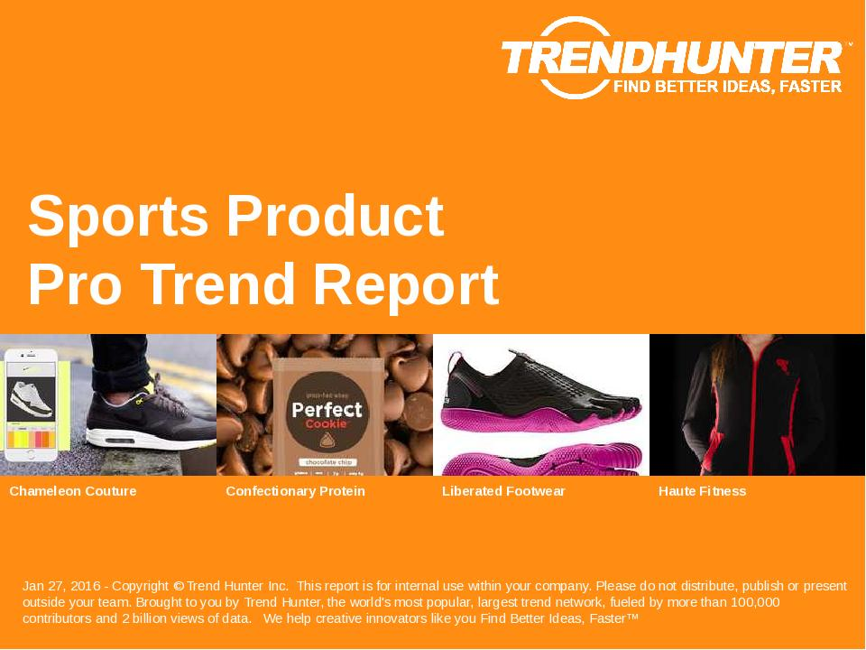 Sports Product Trend Report Research