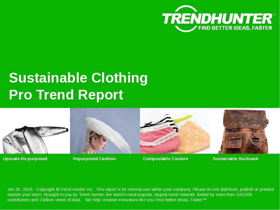 Sustainable Clothing Trend Report Research