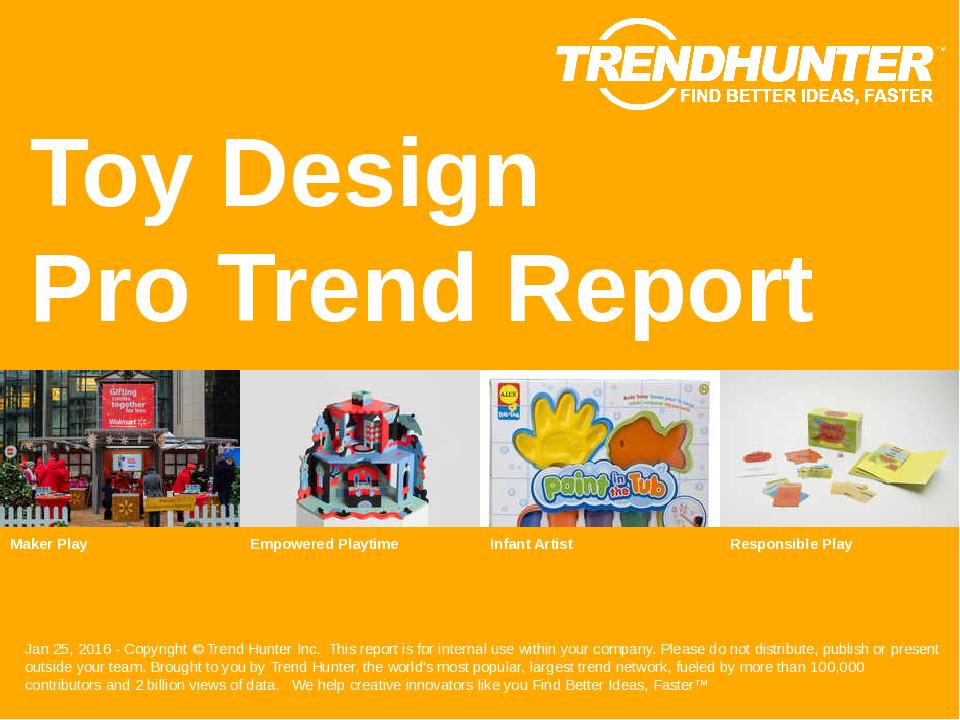 Toy Design Trend Report Research
