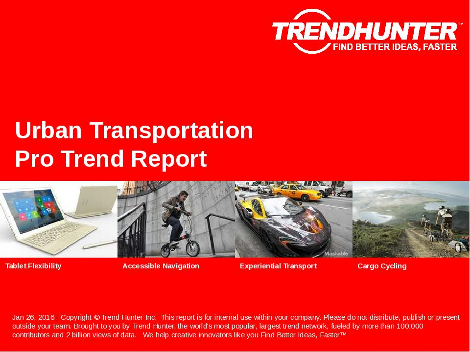 Urban Transportation Trend Report Research
