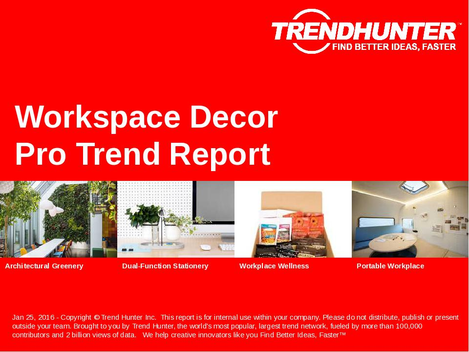 Workspace Decor Trend Report Research