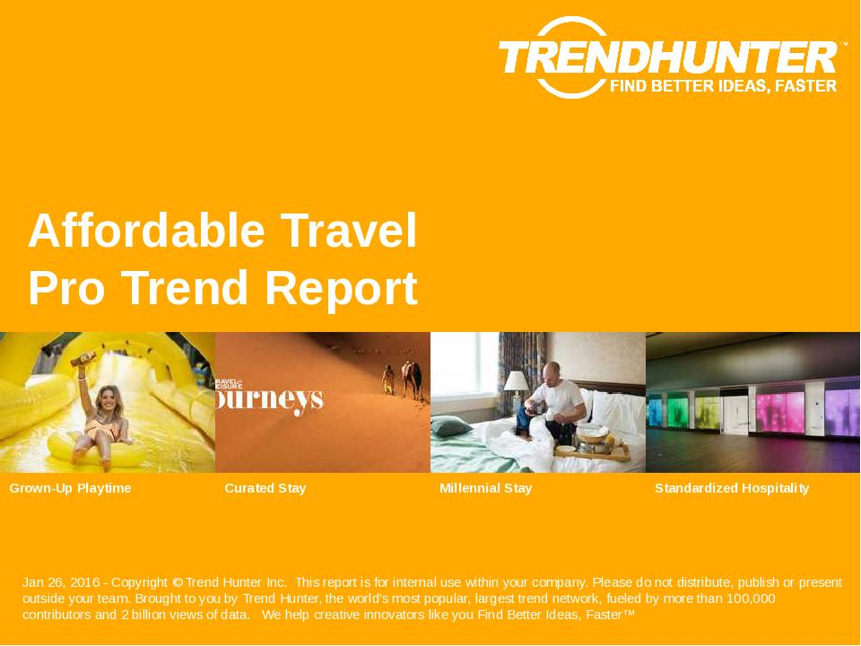 Affordable Travel Trend Report Research