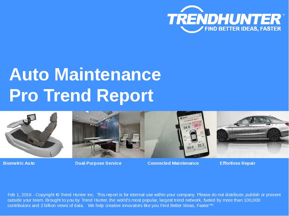 Auto Maintenance Trend Report Research