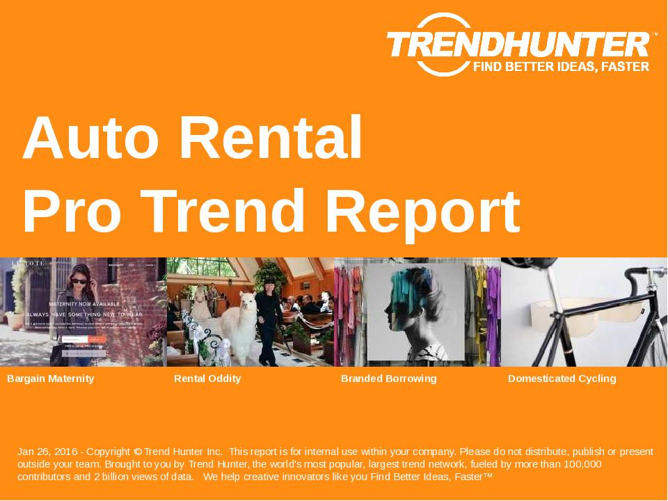 Auto Rental Trend Report Research