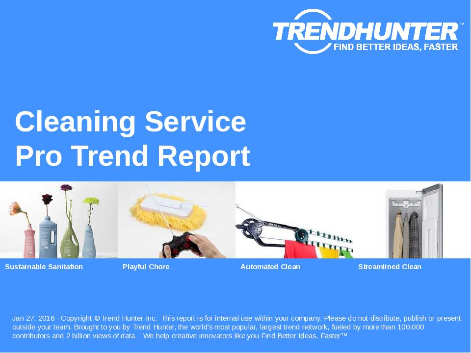 Cleaning Service Trend Report Research