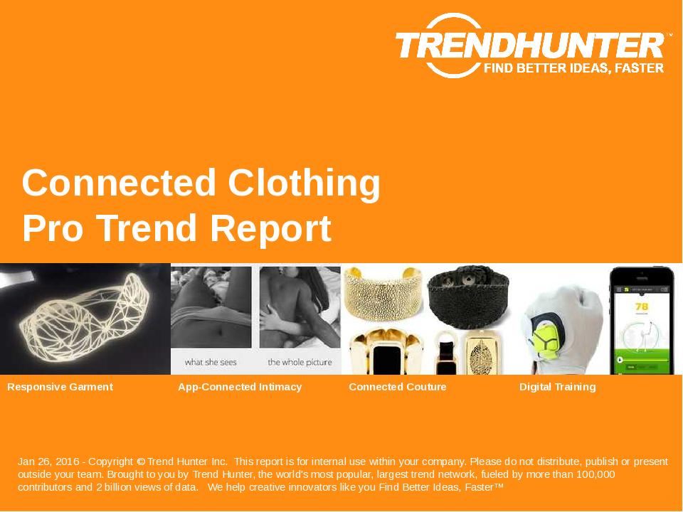 Connected Clothing Trend Report Research