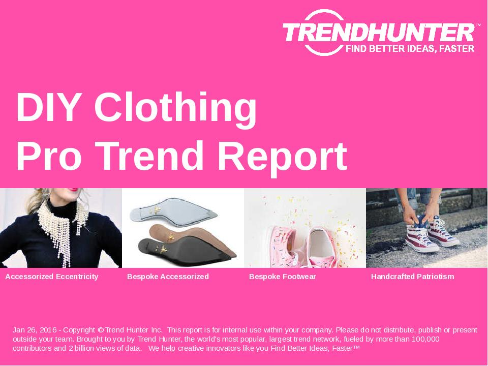 DIY Clothing Trend Report Research