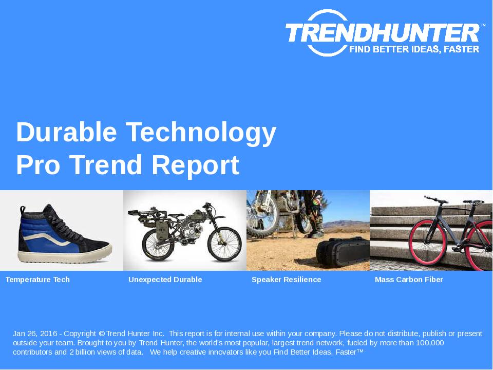 Durable Technology Trend Report Research