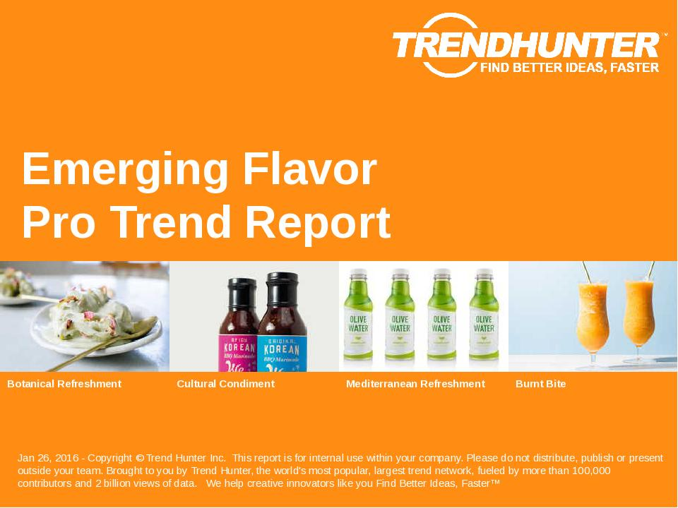Emerging Flavor Trend Report Research