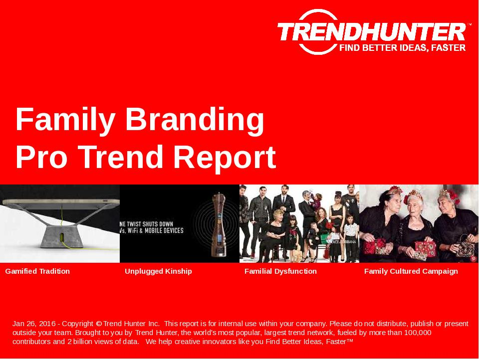 Family Branding Trend Report Research