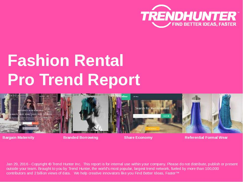 Fashion Rental Trend Report Research