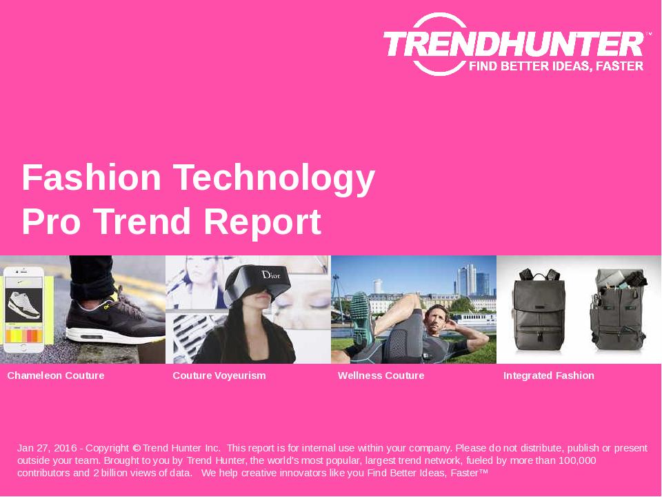 Fashion Technology Trend Report Research