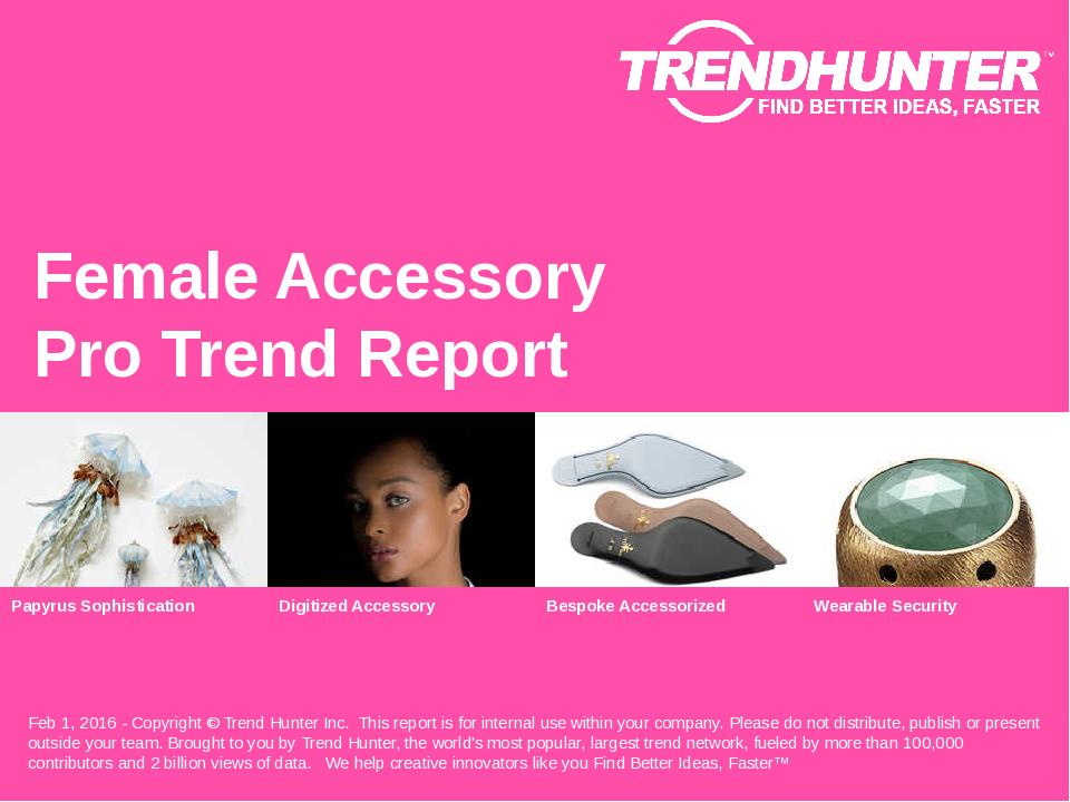 Female Accessory Trend Report Research