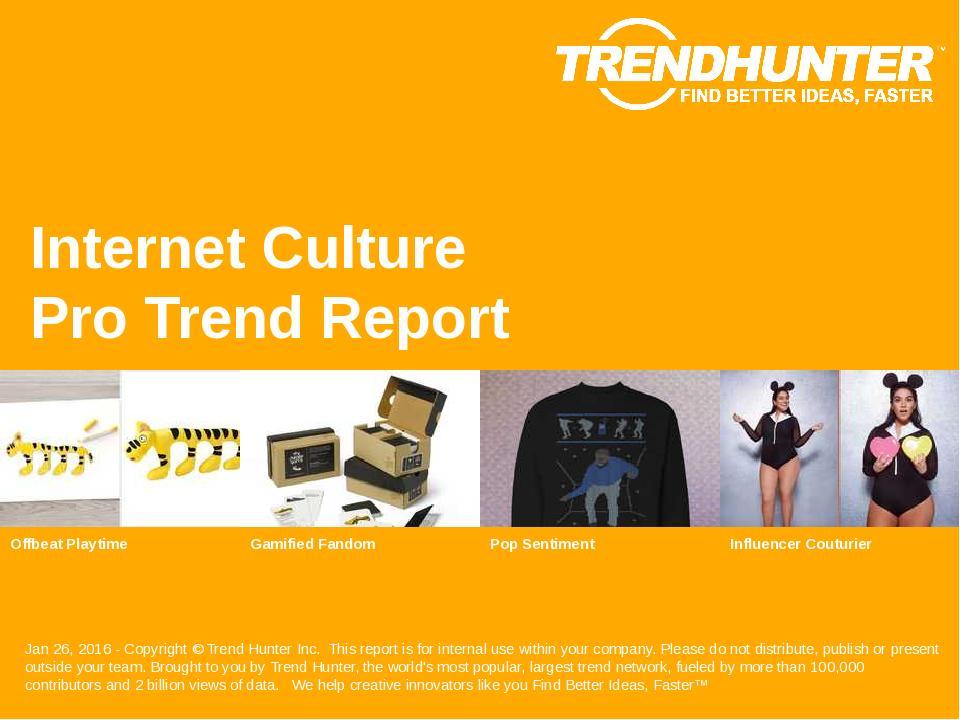 Internet Culture Trend Report Research