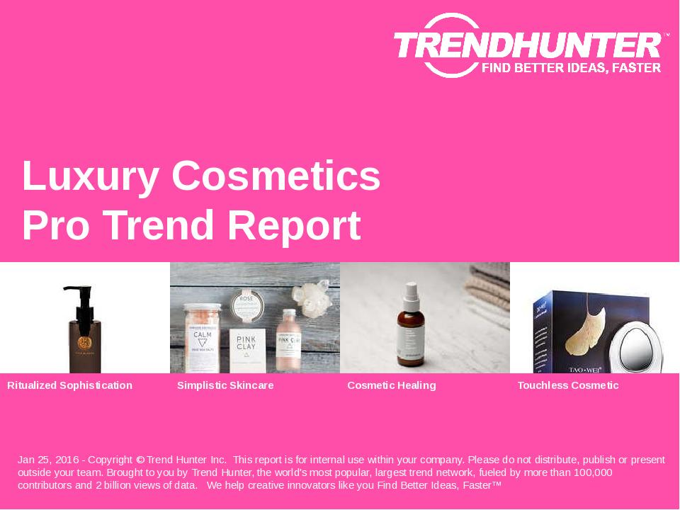 Luxury Cosmetics Trend Report Research