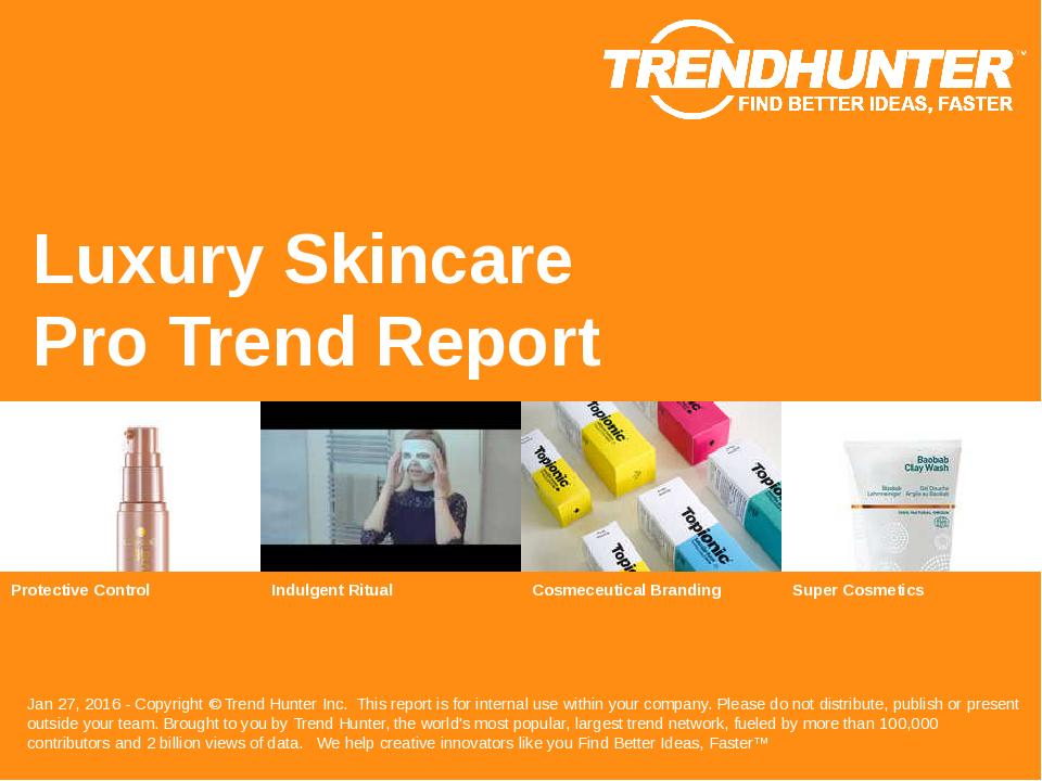 Luxury Skincare Trend Report Research
