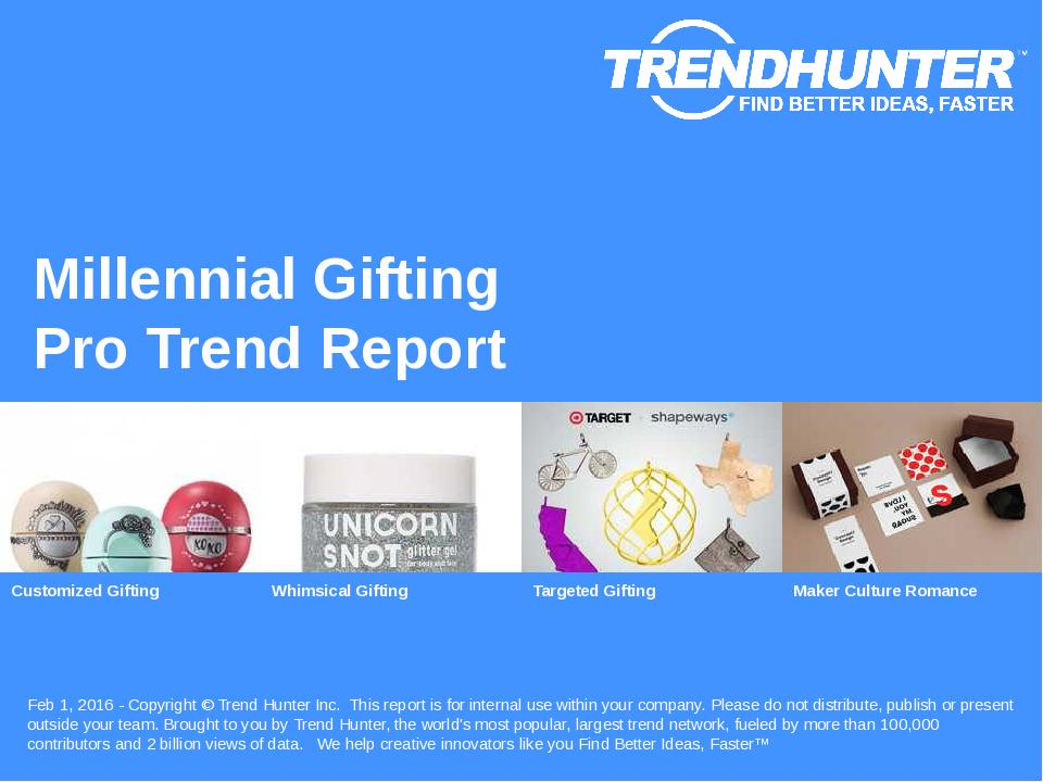 Millennial Gifting Trend Report Research