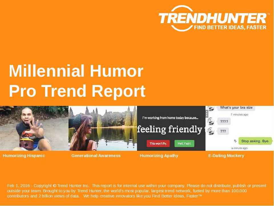 Millennial Humor Trend Report Research