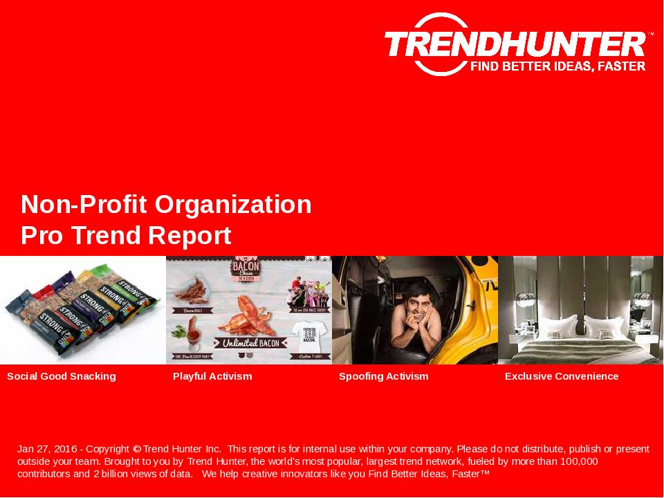 Non-Profit Organization Trend Report Research