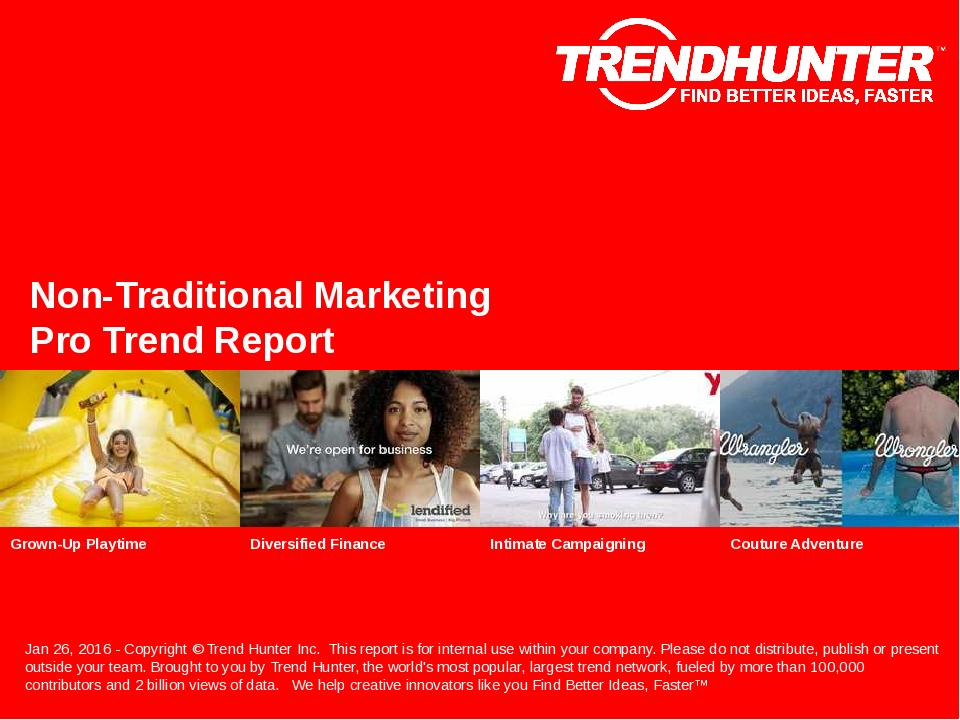 Non-Traditional Marketing Trend Report Research