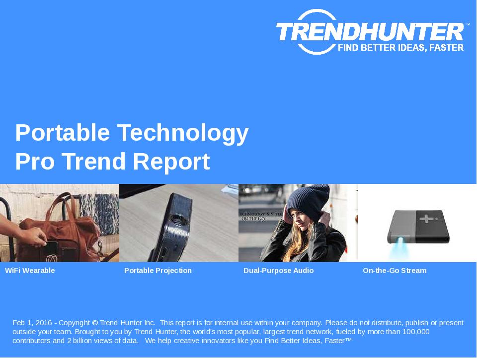 Portable Technology Trend Report Research