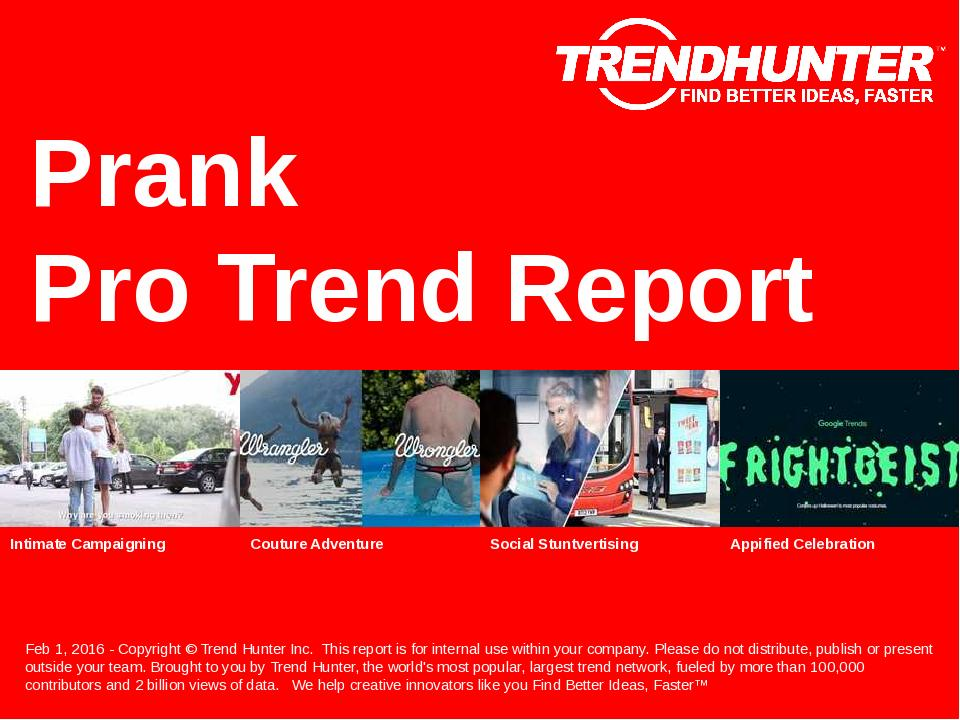 Prank Trend Report Research