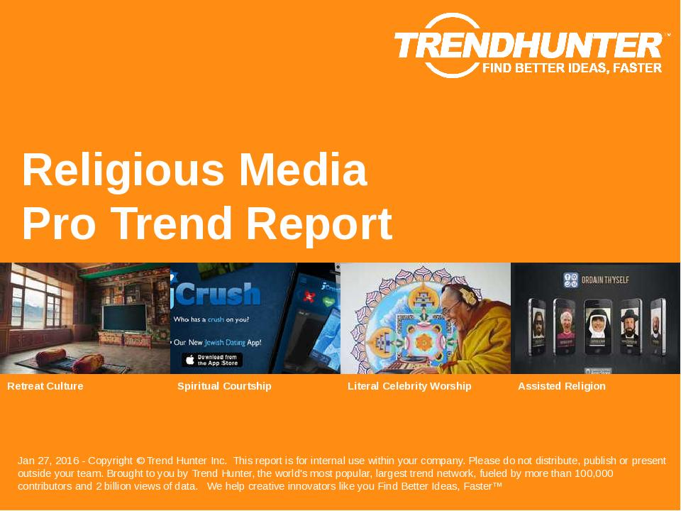 Religious Media Trend Report Research