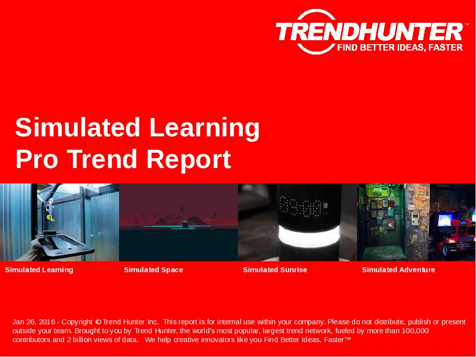 Simulated Learning Trend Report Research