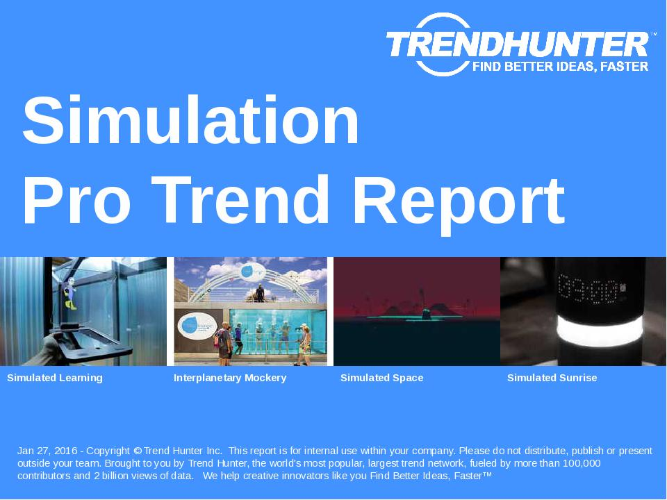 Simulation Trend Report Research