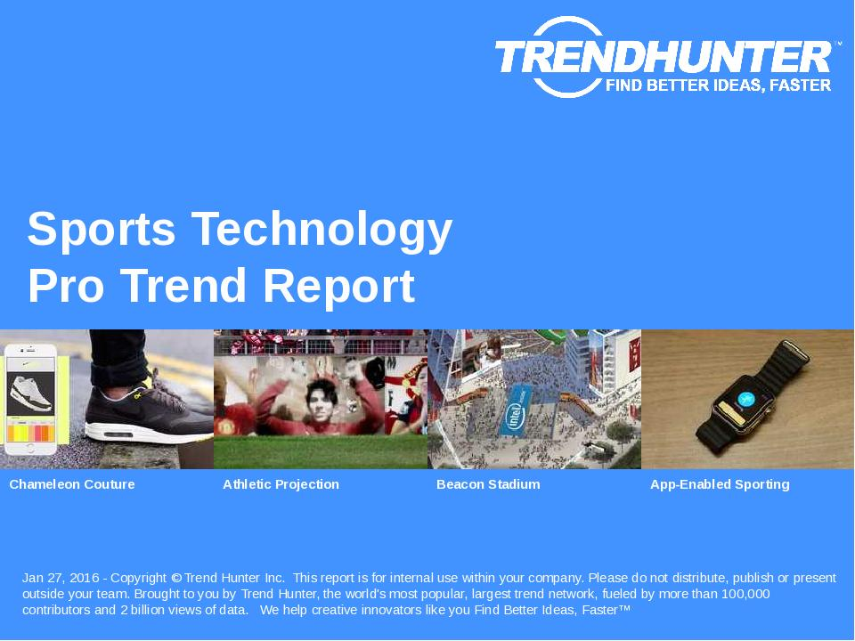 Sports Technology Trend Report Research