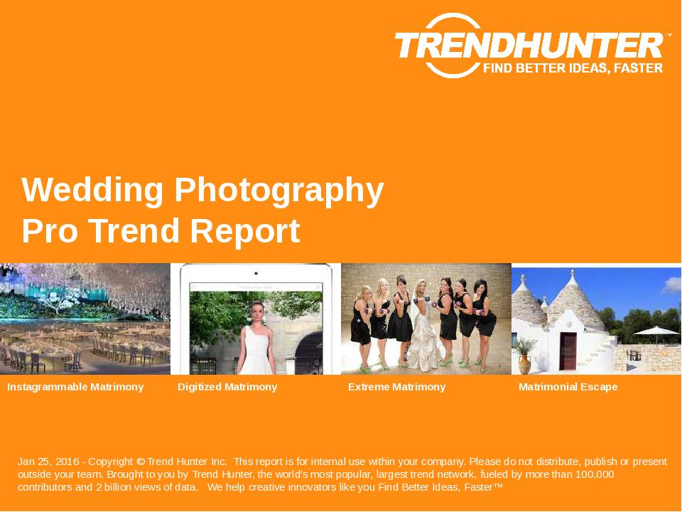 Wedding Photography Trend Report Research