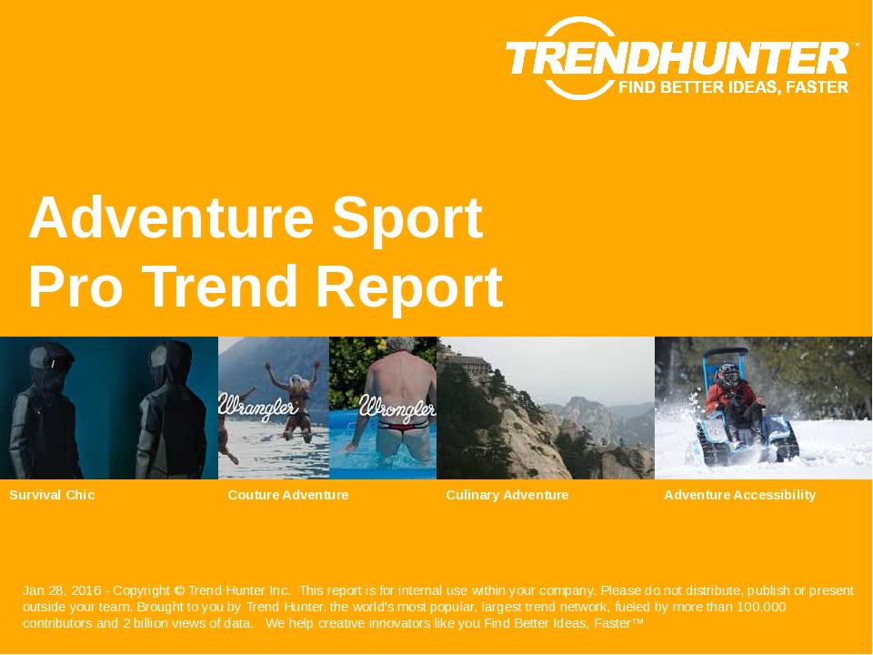 Adventure Sport Trend Report Research