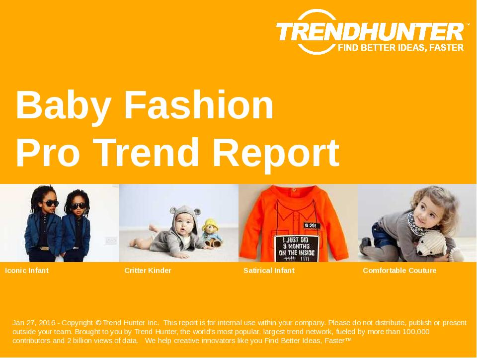 Baby Fashion Trend Report Research