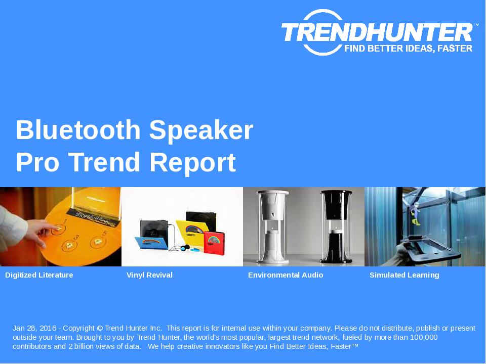 Bluetooth Speaker Trend Report Research