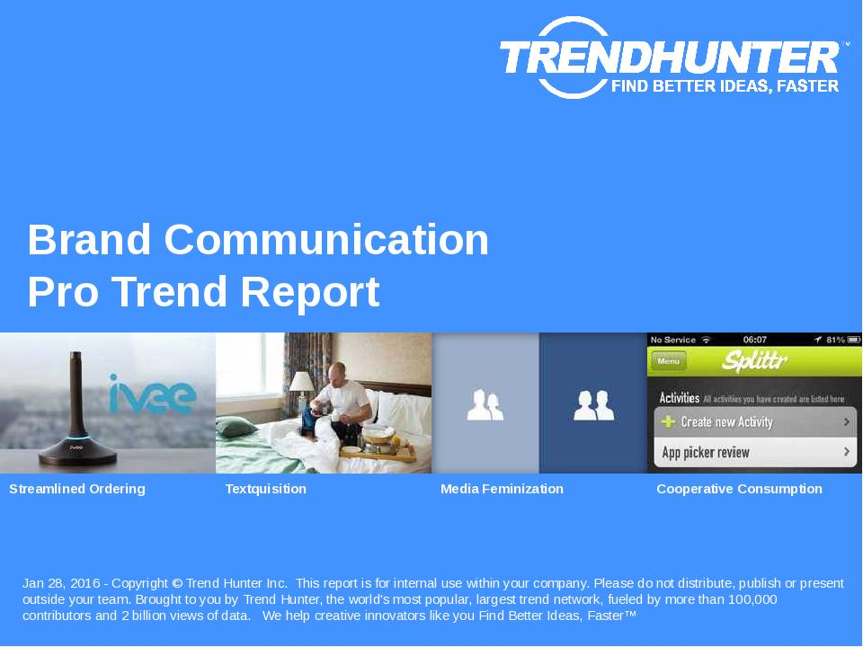 Brand Communication Trend Report Research