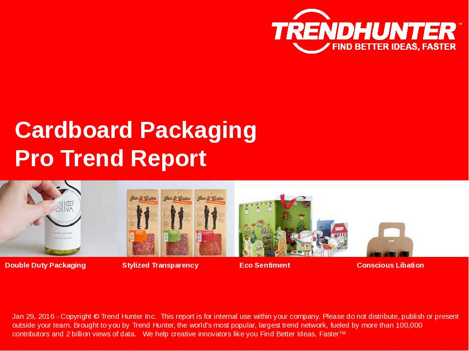 Cardboard Packaging Trend Report Research