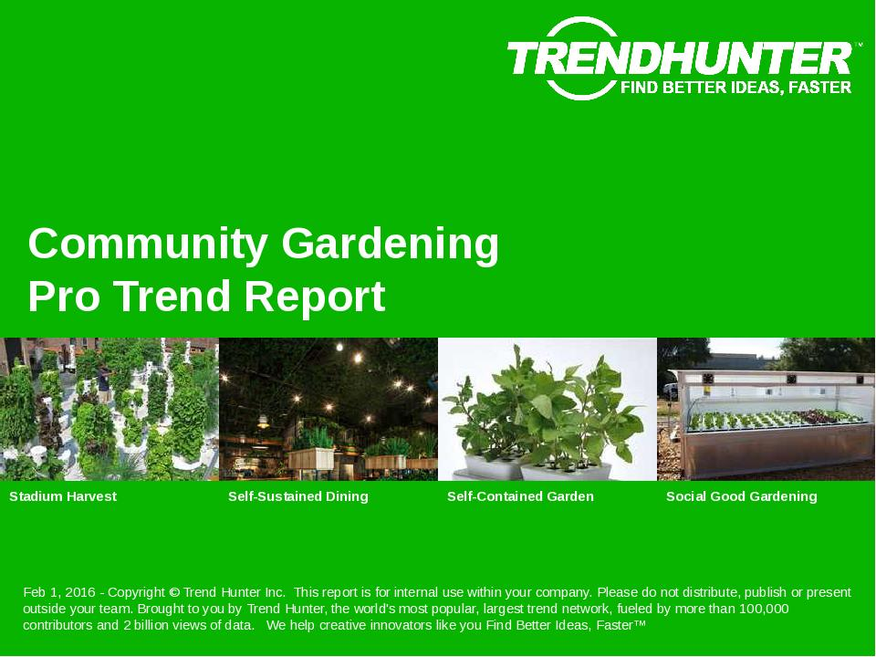 Community Gardening Trend Report Research