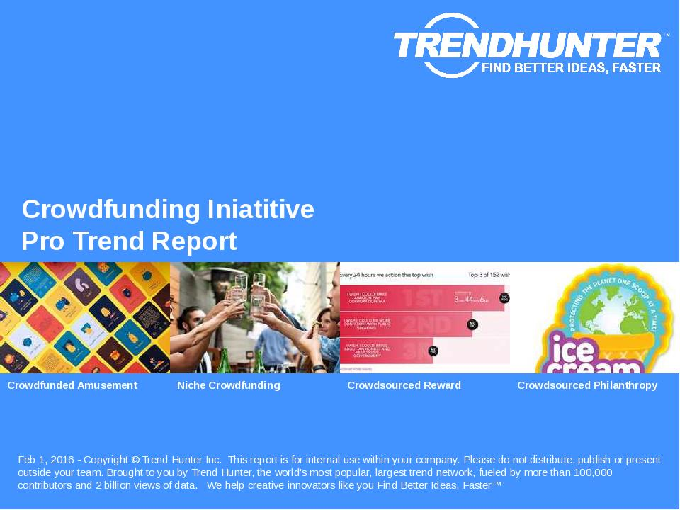 Crowdfunding Iniatitive Trend Report Research