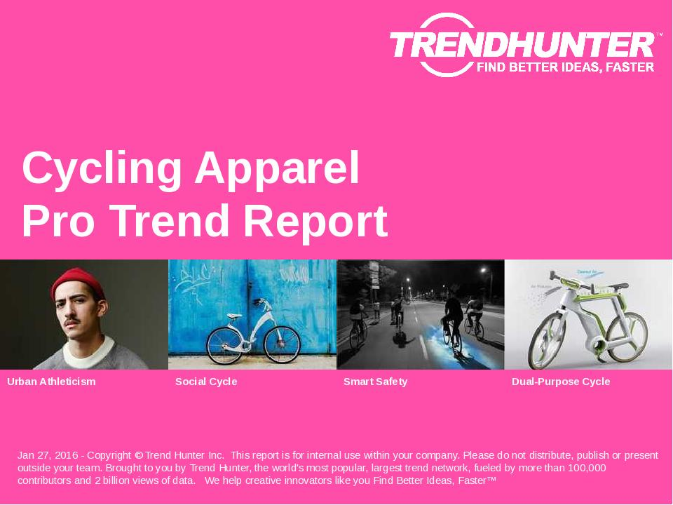 Cycling Apparel Trend Report Research