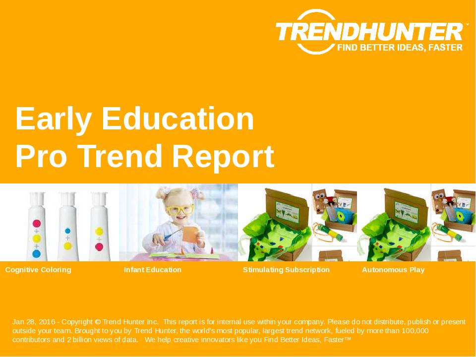 Early Education Trend Report Research