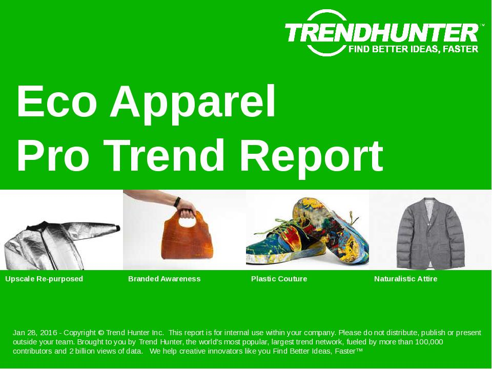 Eco Apparel Trend Report Research