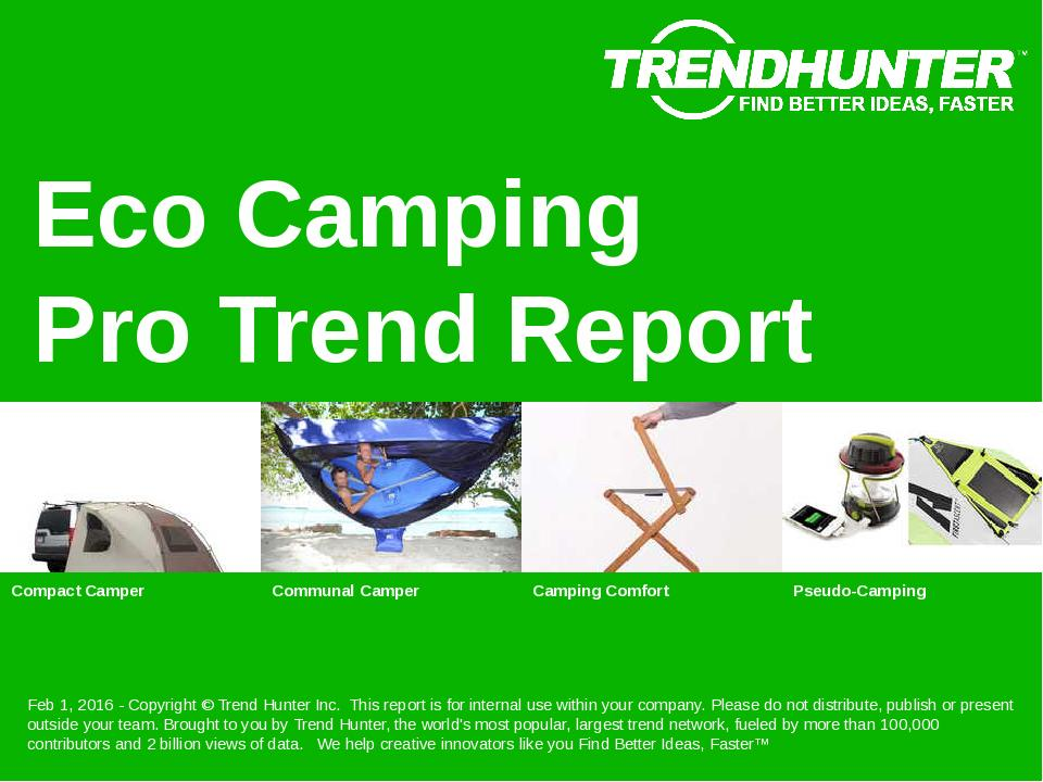 Eco Camping Trend Report Research