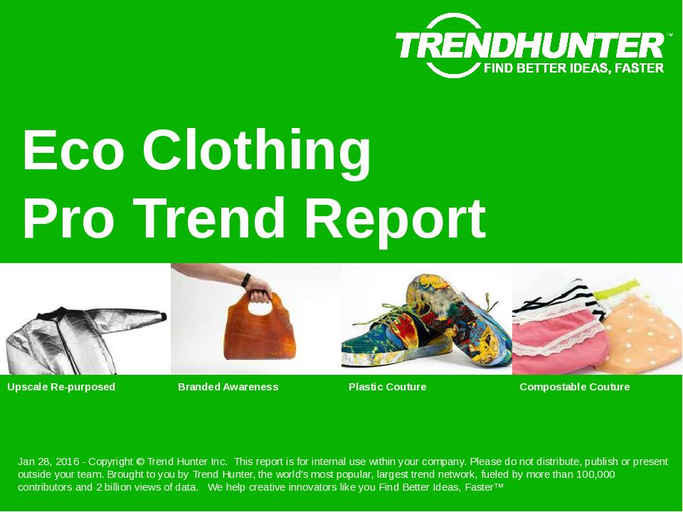 Eco Clothing Trend Report Research