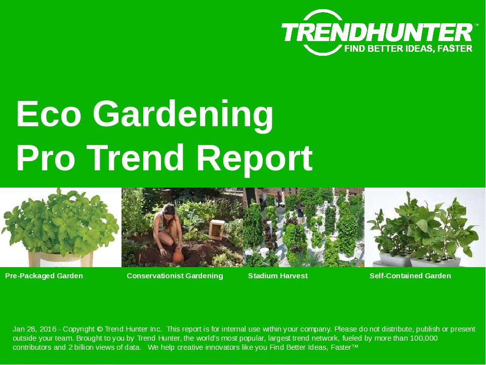 Eco Gardening Trend Report Research