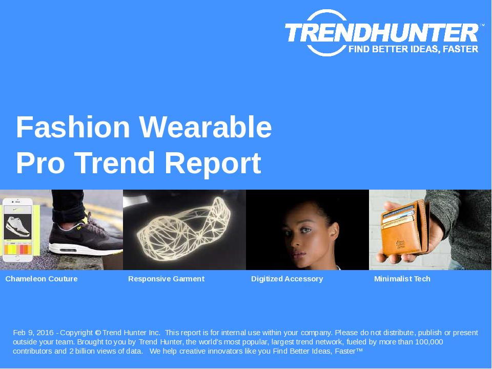 Fashion Wearable Trend Report Research