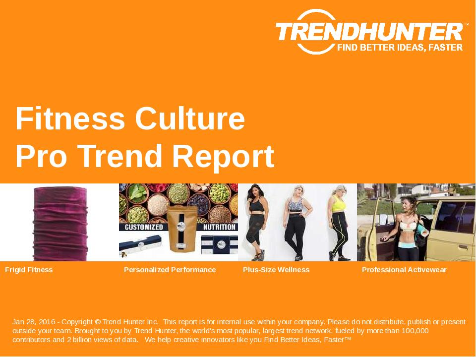 Fitness Culture Trend Report Research