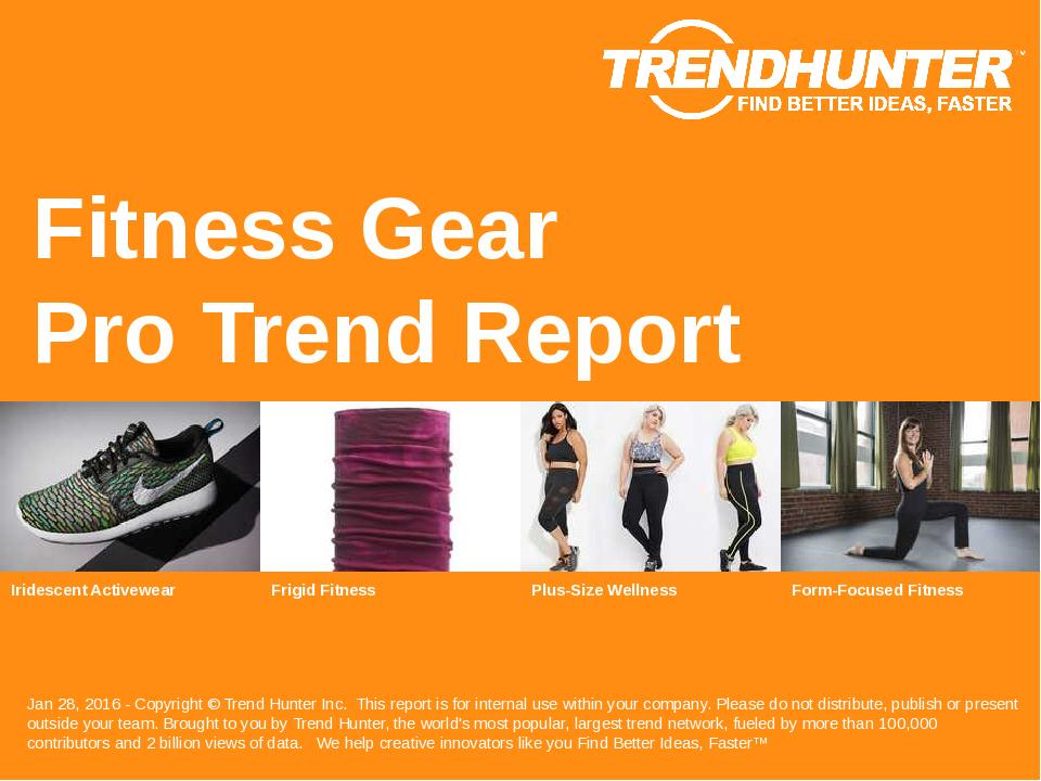 Fitness Gear Trend Report Research