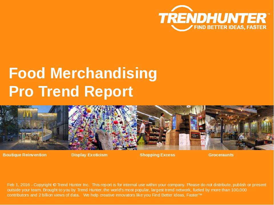 Food Merchandising Trend Report Research
