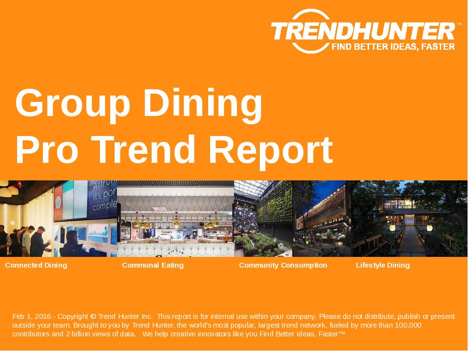 Group Dining Trend Report Research