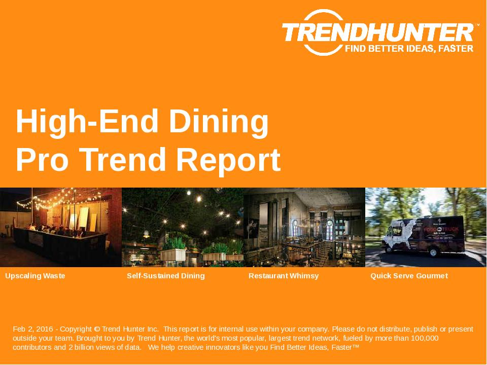 High-End Dining Trend Report Research